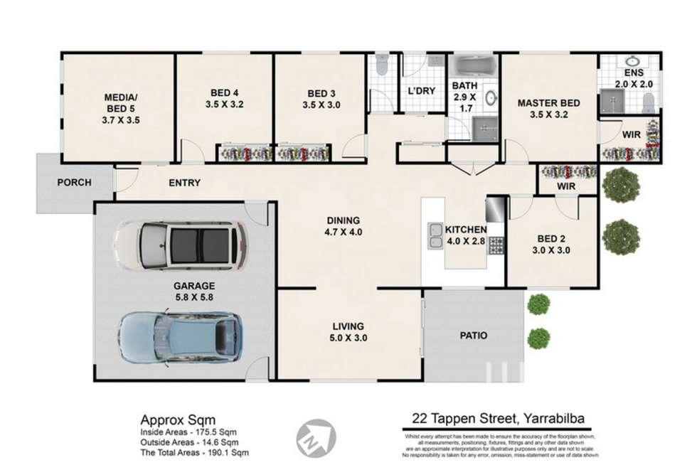 Floorplan of Homely house listing, 22 Tappen Street, Yarrabilba QLD 4207