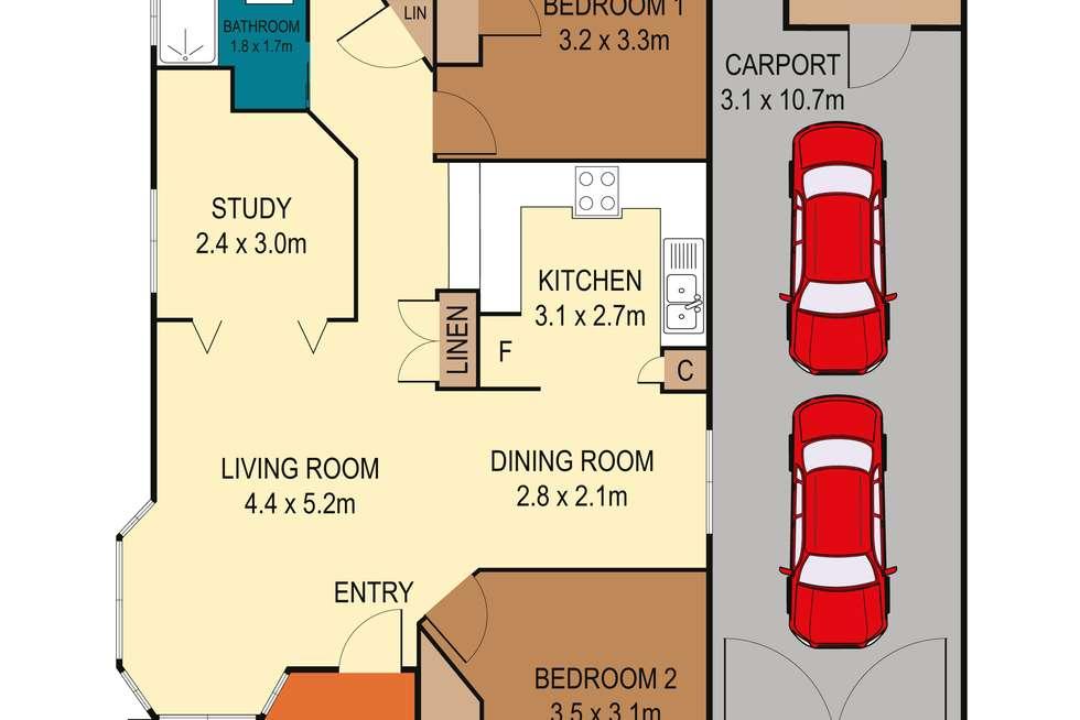 Floorplan of Homely house listing, 187/186 Sunrise Avenue, Halekulani NSW 2262