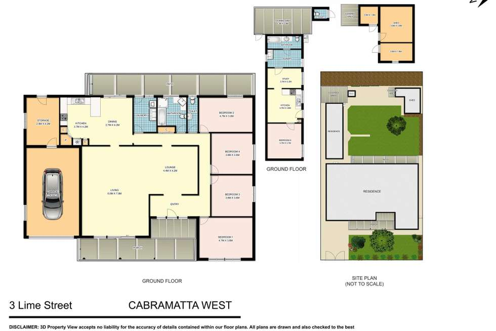 Floorplan of Homely house listing, 3 Lime Street, Cabramatta West NSW 2166