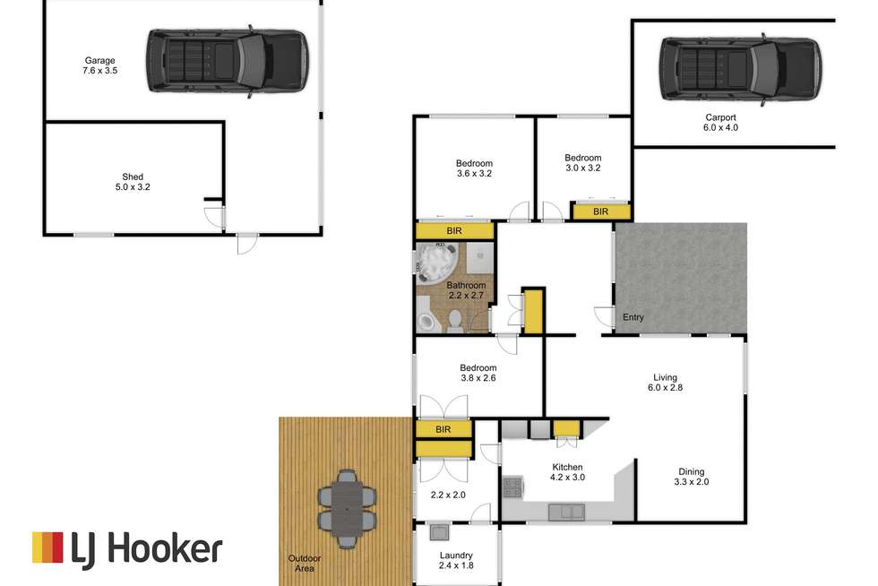 Floorplan of Homely house listing, 57 Shanahan Parade, Newborough VIC 3825