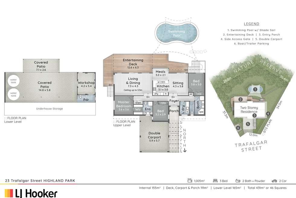Floorplan of Homely house listing, 23 Trafalgar Street, Highland Park QLD 4211