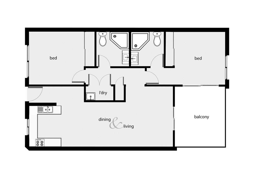 Floorplan of Homely unit listing, 311/22-24 Ward Street, Mooroobool QLD 4870