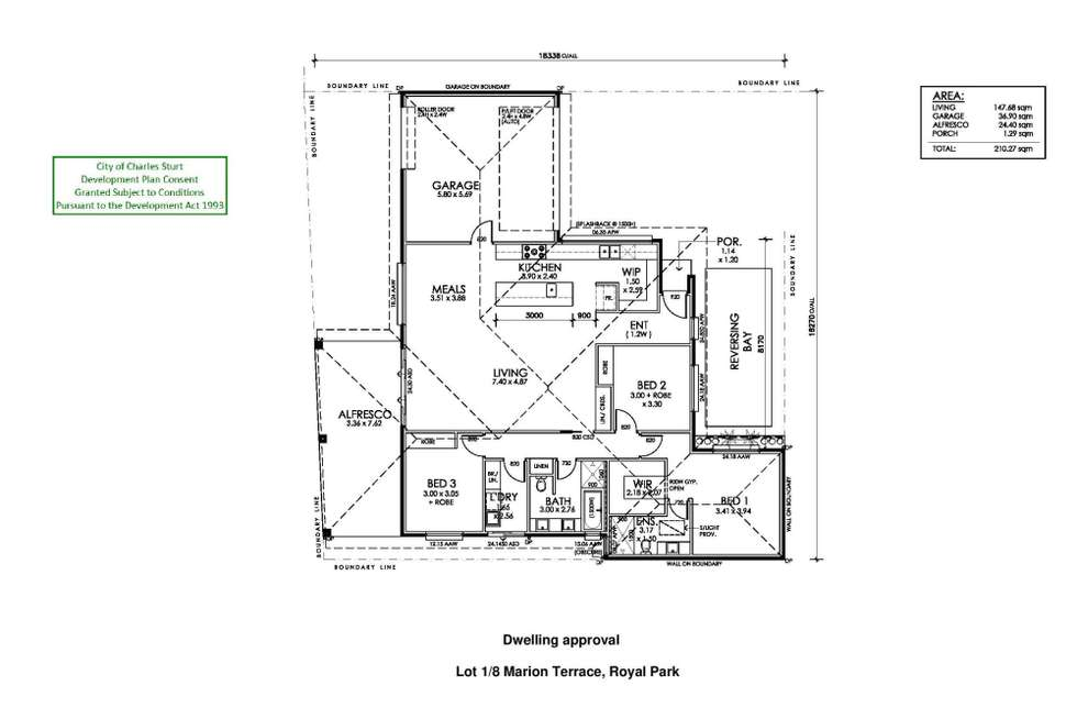 Floorplan of Homely residentialLand listing, Lot 1/8 Marion Terrace, Royal Park SA 5014