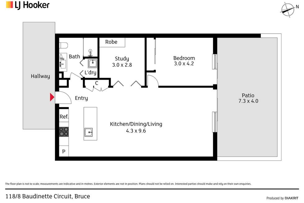 Floorplan of Homely apartment listing, 118/8 Baudinette Circuit, Bruce ACT 2617