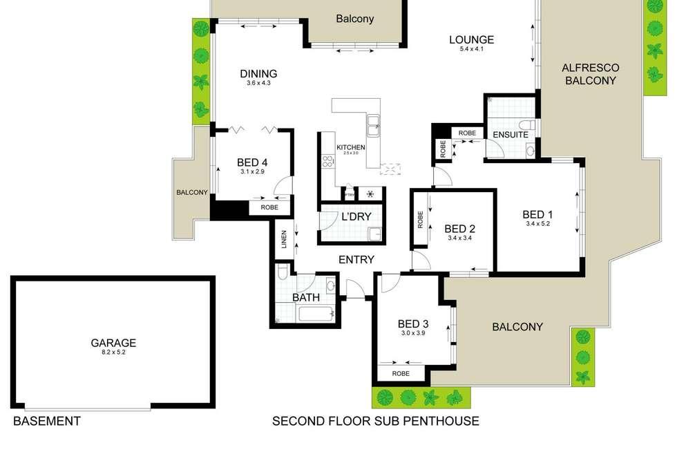 Floorplan of Homely apartment listing, 15/43 Masons Parade, Gosford NSW 2250