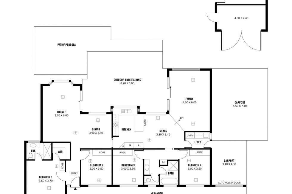 Floorplan of Homely house listing, 3 Coachwood Drive, Aberfoyle Park SA 5159