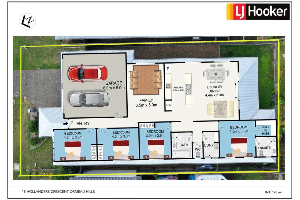 Floorplan of Homely house listing, 18 Hollanders Crescent, Ormeau Hills QLD 4208