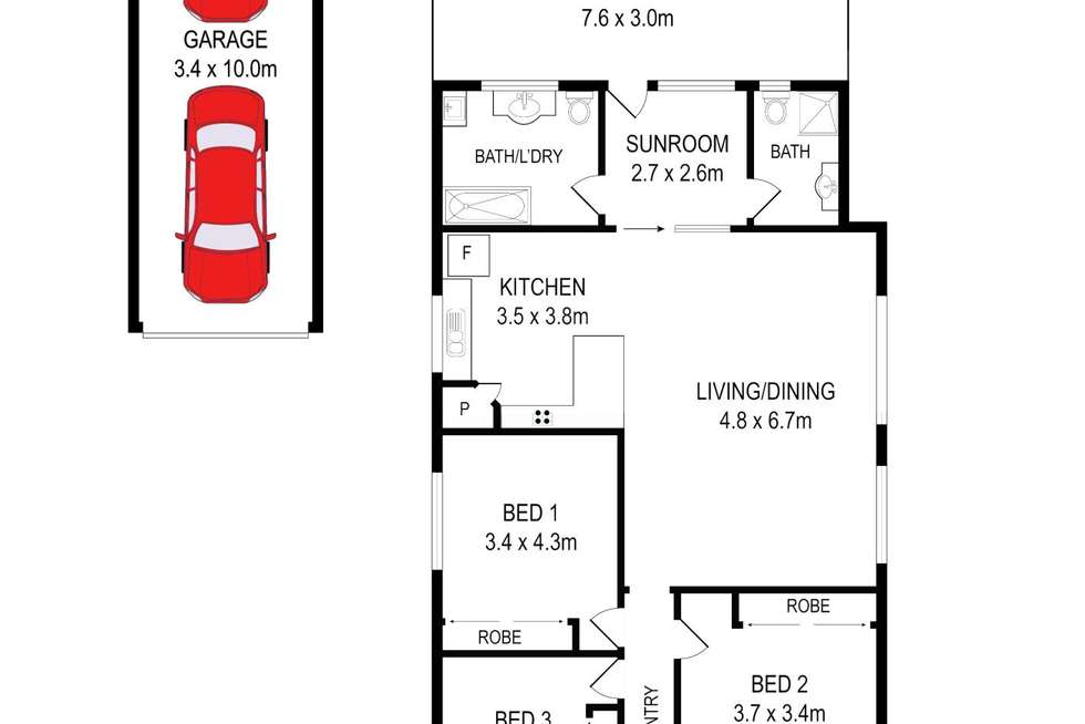 Floorplan of Homely house listing, 42 Chiswick Rd, Auburn NSW 2144