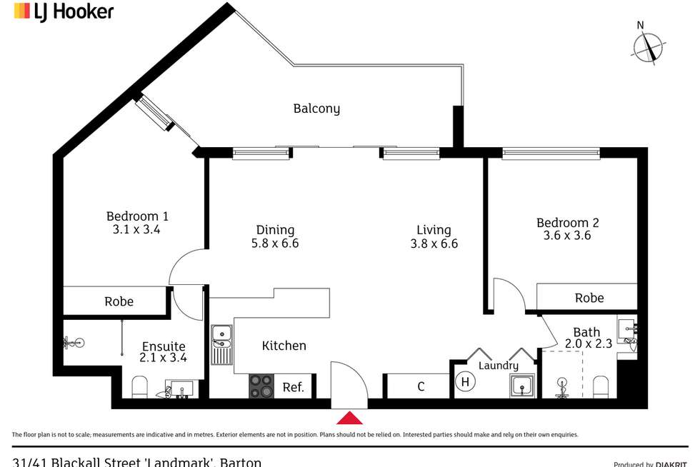 Floorplan of Homely apartment listing, 31/41 Blackall Street, Barton ACT 2600