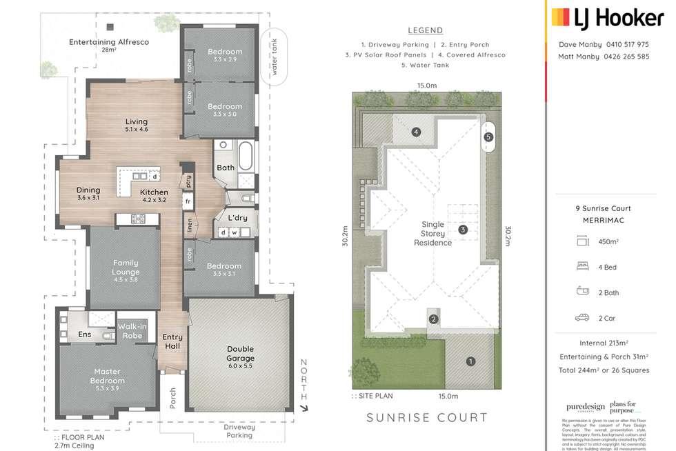 Floorplan of Homely house listing, 9 Sunrise Court, Merrimac QLD 4226