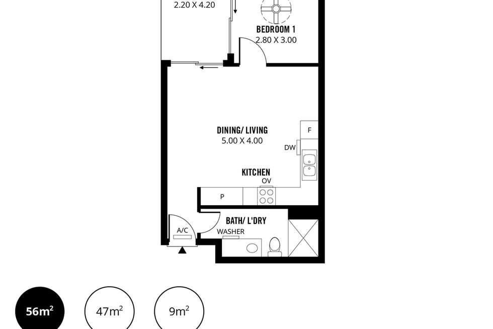Floorplan of Homely apartment listing, 5/29 Moore Street, Adelaide SA 5000