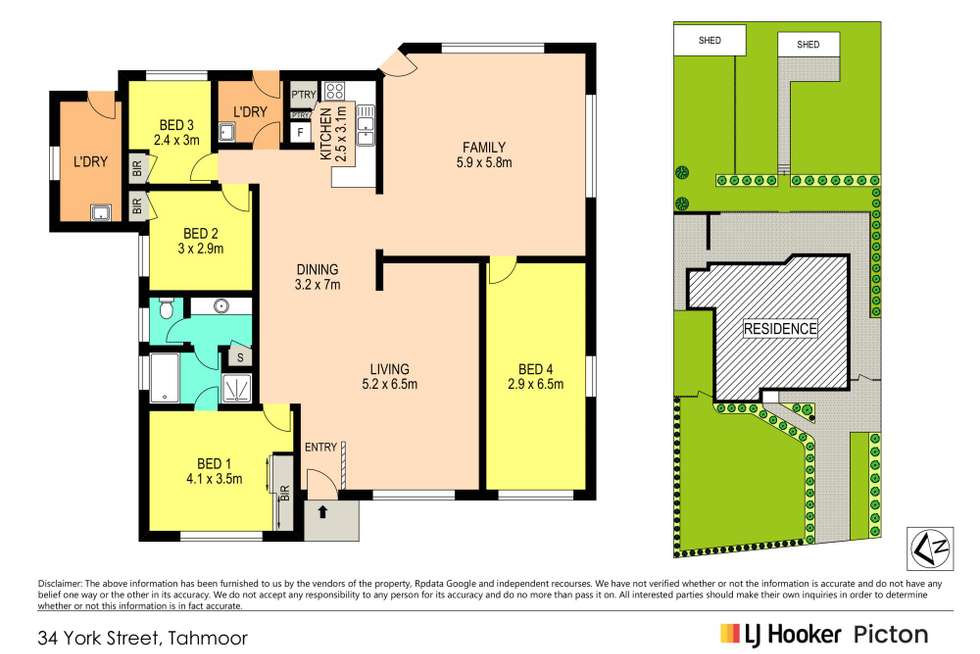 Floorplan of Homely house listing, 34 York Street, Tahmoor NSW 2573