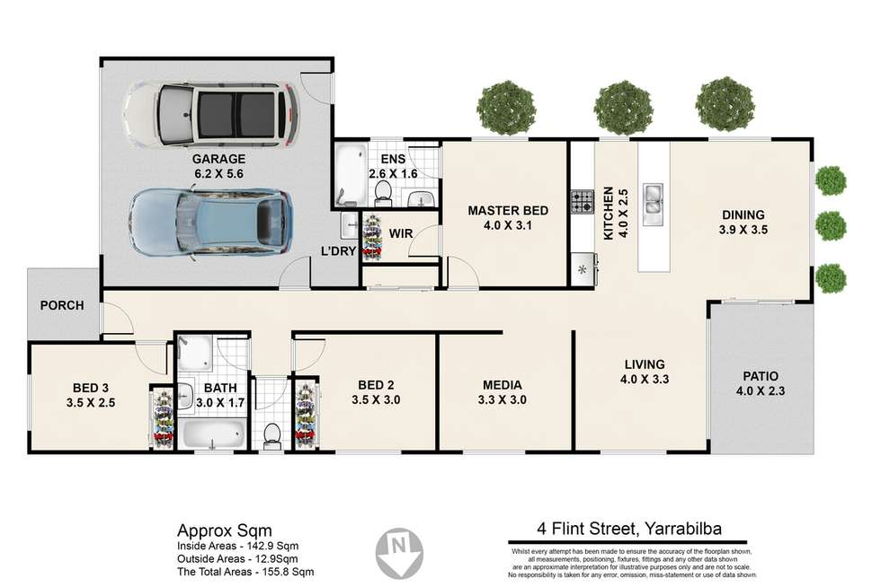 Floorplan of Homely house listing, 4 Flint Street, Yarrabilba QLD 4207