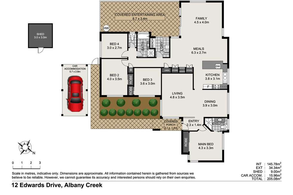 Floorplan of Homely house listing, 12 Edwards Drive, Albany Creek QLD 4035
