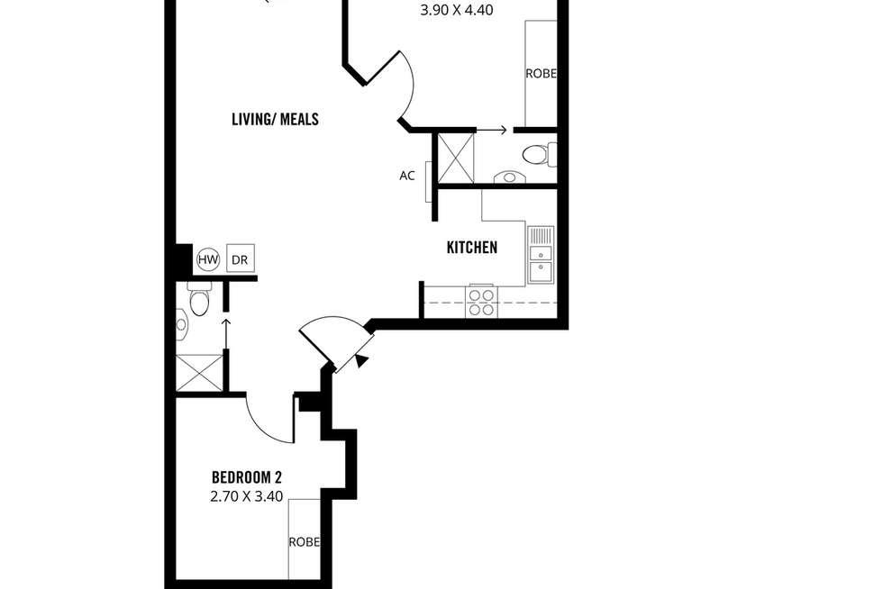 Floorplan of Homely apartment listing, 177/65 King William Street, Adelaide SA 5000