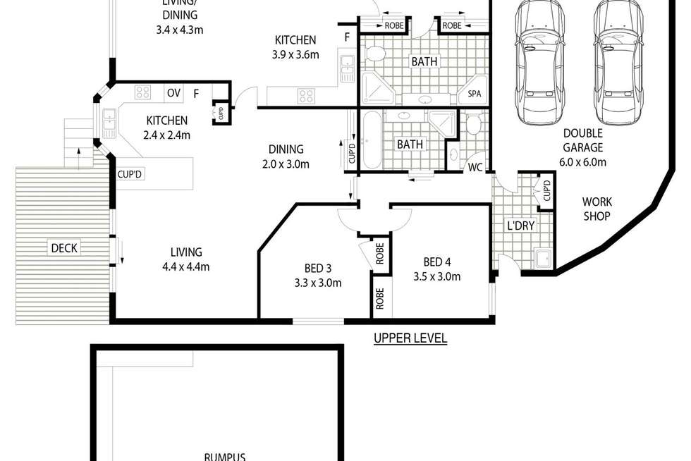 Floorplan of Homely townhouse listing, 9/2 Cobbett Place, Bruce ACT 2617