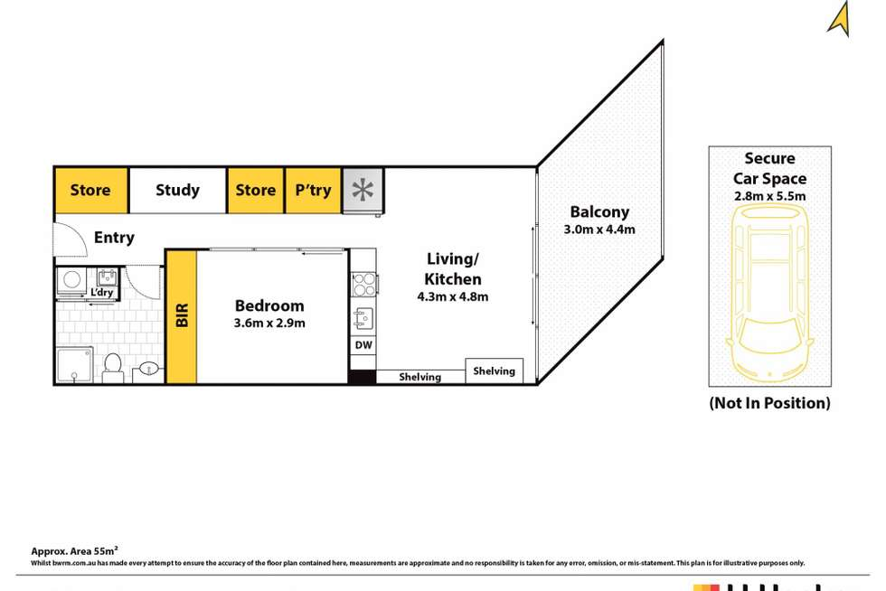 Floorplan of Homely apartment listing, 511/11a Lachlan Street, Waterloo NSW 2017