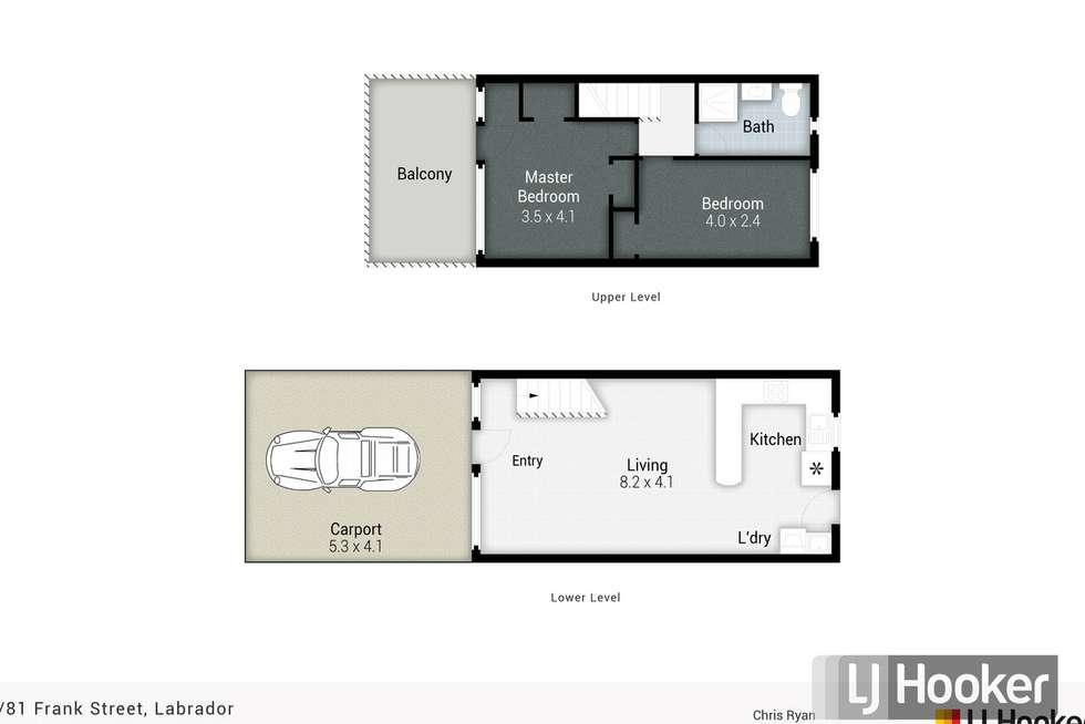 Floorplan of Homely townhouse listing, 6/81 Frank Street, Labrador QLD 4215