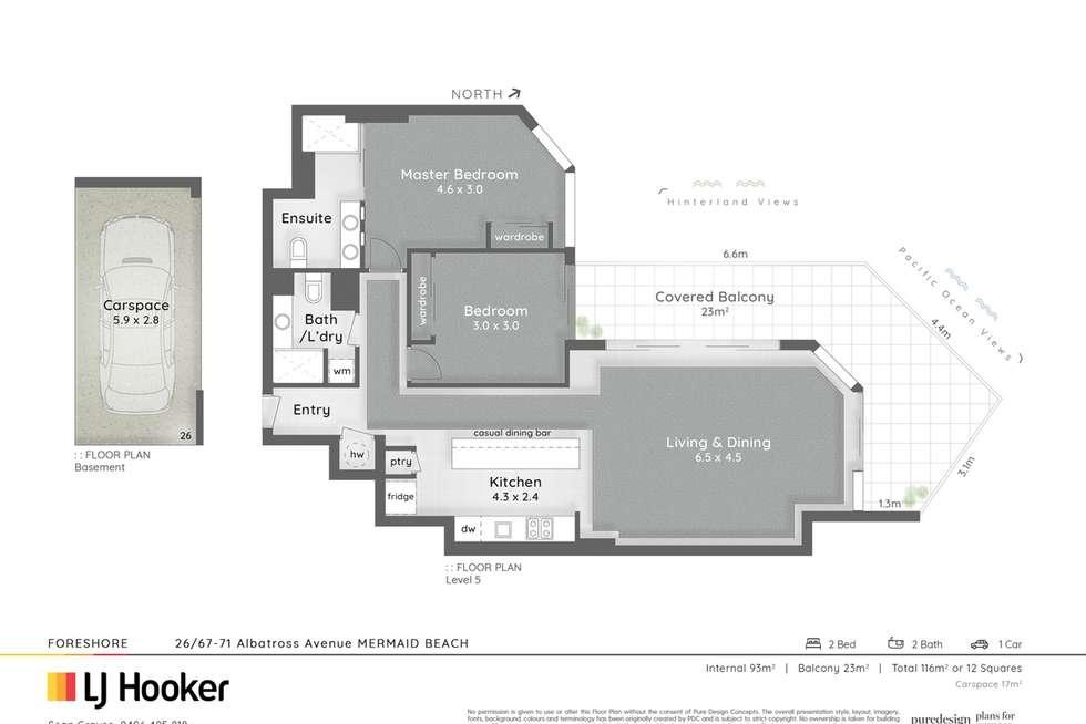 Floorplan of Homely unit listing, 26/67-71 Albatross Avenue, Mermaid Beach QLD 4218
