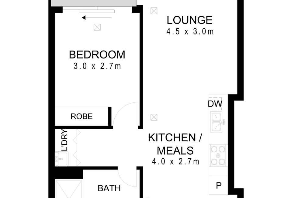 Floorplan of Homely apartment listing, 107/267 Hutt Street, Adelaide SA 5000