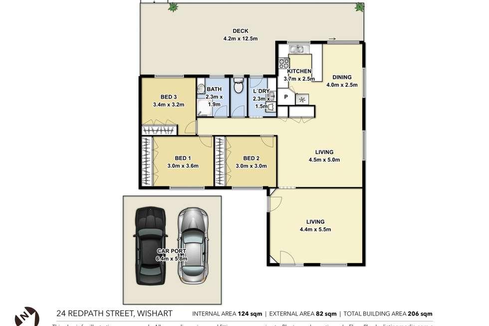 Floorplan of Homely house listing, 24 Redpath Street, Wishart QLD 4122