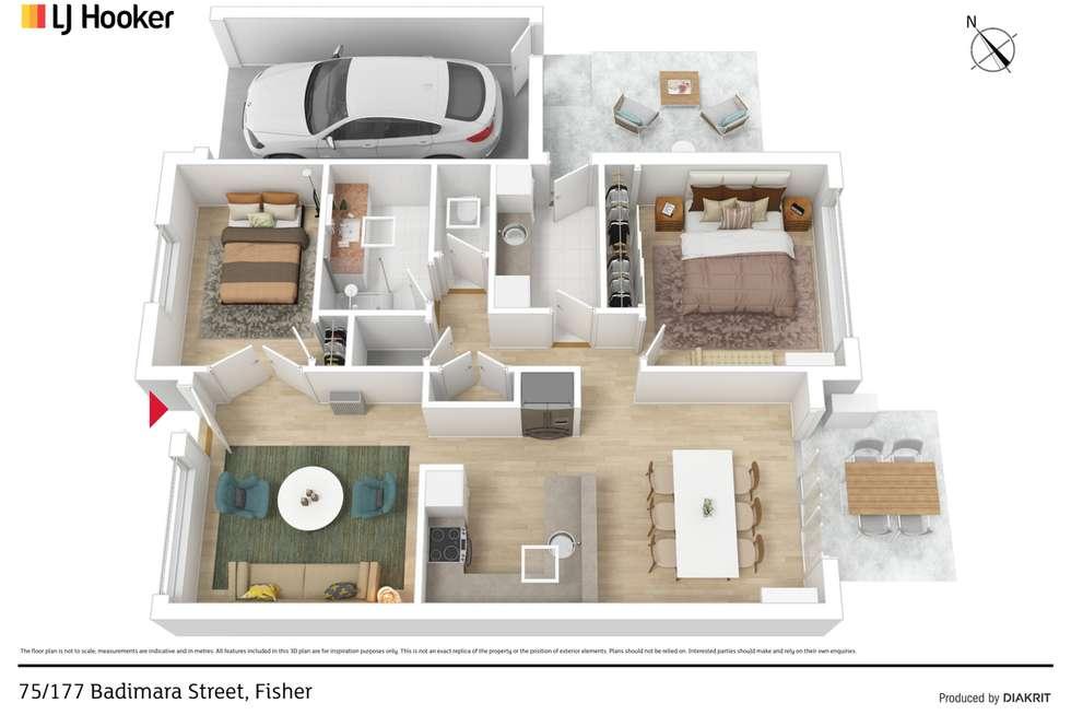 Floorplan of Homely retirement listing, 75/177 Badimara Street, Fisher ACT 2611