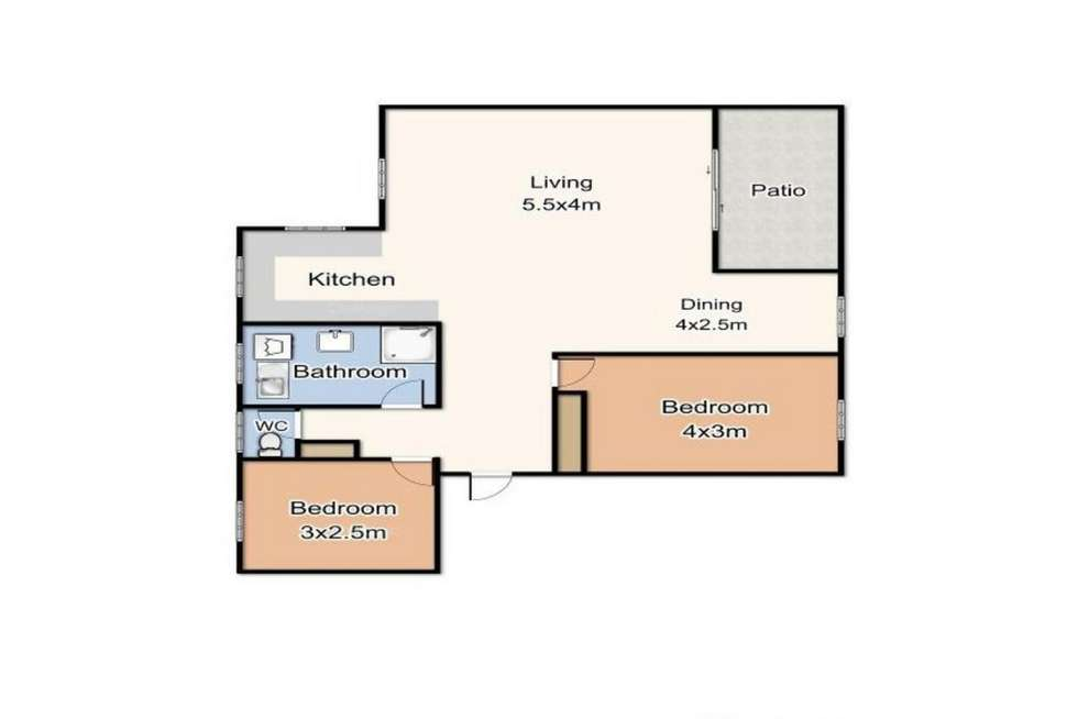 Floorplan of Homely unit listing, 22/1306 Gold Coast Highway, Palm Beach QLD 4221