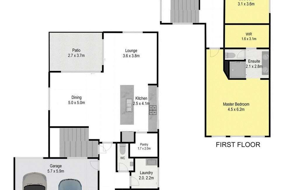 Floorplan of Homely house listing, 6 Montegrande Circuit, Griffin QLD 4503