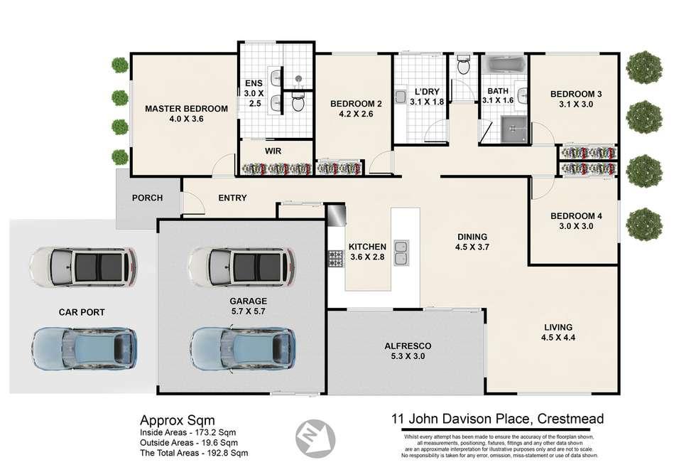 Floorplan of Homely house listing, 11 John Davison Place, Crestmead QLD 4132
