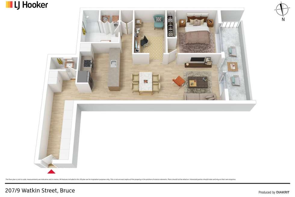Floorplan of Homely apartment listing, 207/9 Watkin Street, Bruce ACT 2617