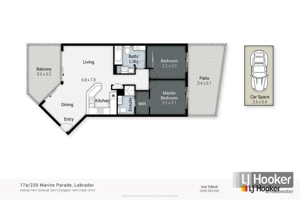 Floorplan of Homely unit listing, 17A/220 Marine Parade, Labrador QLD 4215