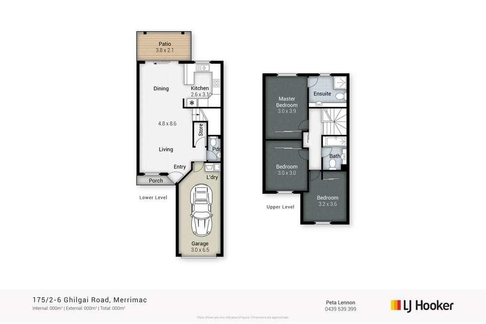 Floorplan of Homely townhouse listing, 175/2-6 Ghilgai Road, Merrimac QLD 4226