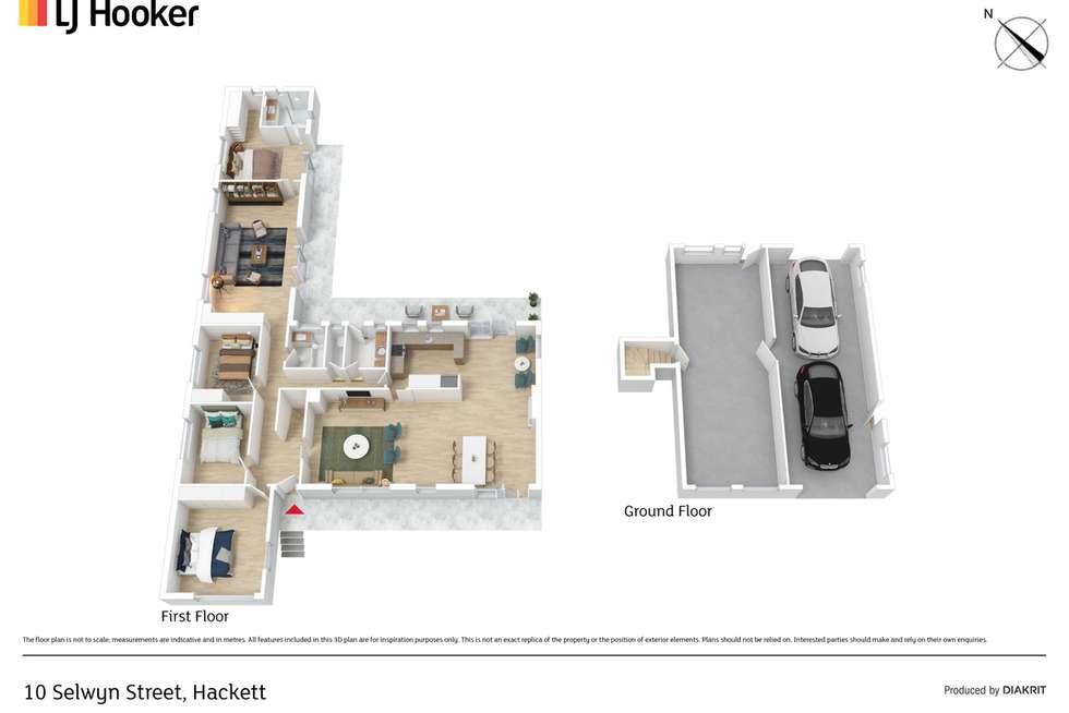 Floorplan of Homely house listing, 10 Selwyn Street, Hackett ACT 2602