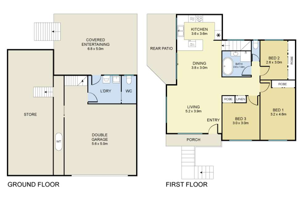 Floorplan of Homely house listing, 3a Eric Place, Berkeley Vale NSW 2261