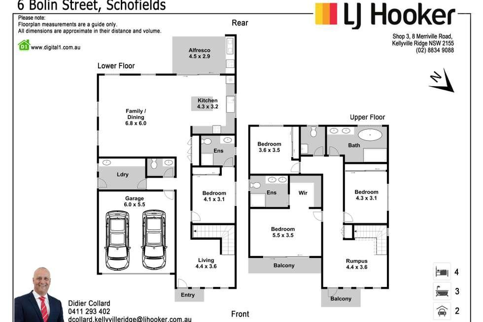 Floorplan of Homely house listing, 6 Bolin Street, Schofields NSW 2762
