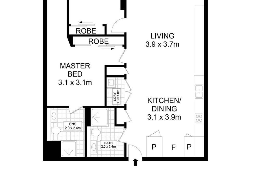 Floorplan of Homely apartment listing, 410/20 Dunkerley Place, Waterloo NSW 2017