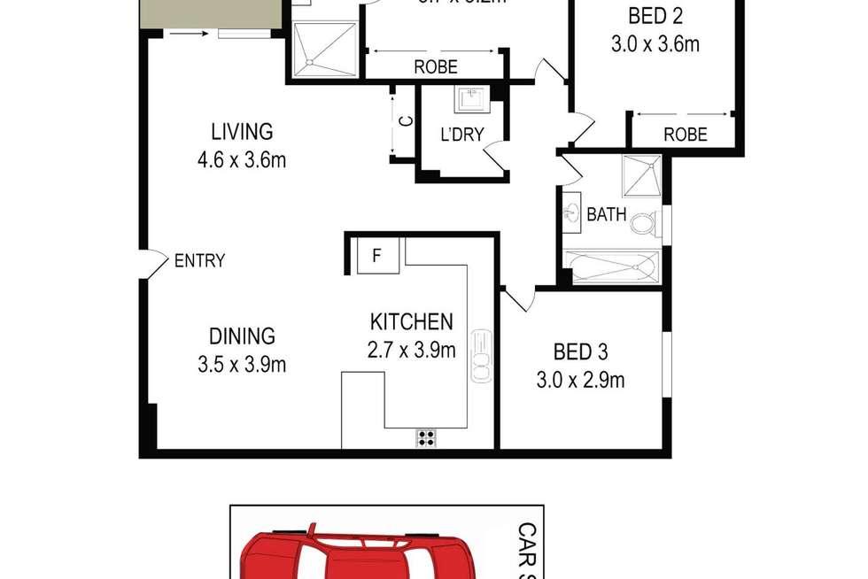 Floorplan of Homely apartment listing, 4a/88-98 Marsden St, Parramatta NSW 2150