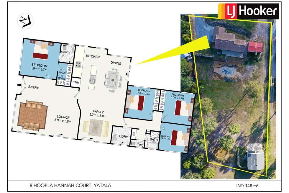 Floorplan of Homely acreageSemiRural listing, 8 Hoopla Hannah Court, Yatala QLD 4207