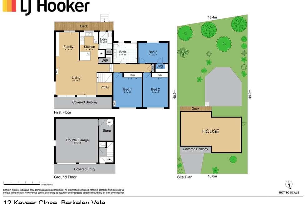 Floorplan of Homely house listing, 12 Keveer Close, Berkeley Vale NSW 2261