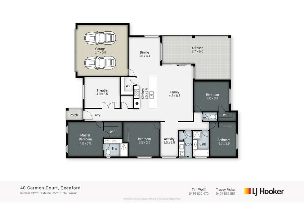 Floorplan of Homely house listing, 40 Carmen Court, Oxenford QLD 4210