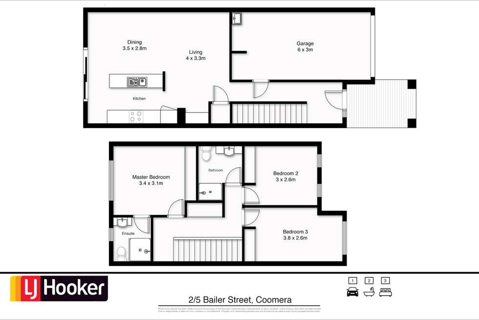 Floorplan of Homely townhouse listing, 2/5 Bailer Street, Coomera QLD 4209