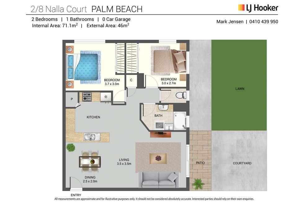 Floorplan of Homely unit listing, 2/8 Nalla Court, Palm Beach QLD 4221