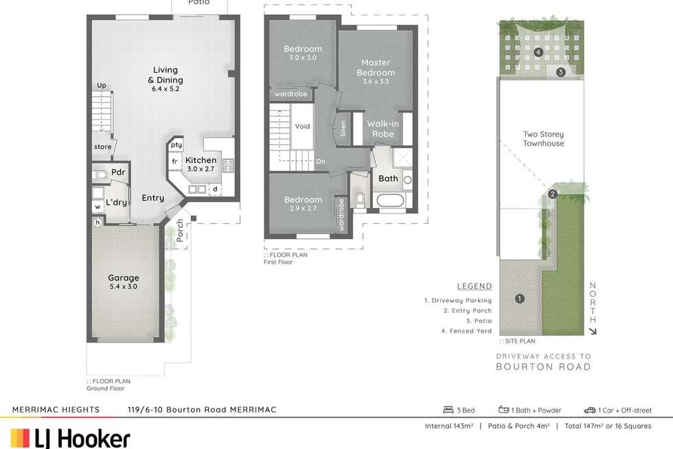 Floorplan of Homely unit listing, 119/6-10 Bourton Road, Merrimac QLD 4226