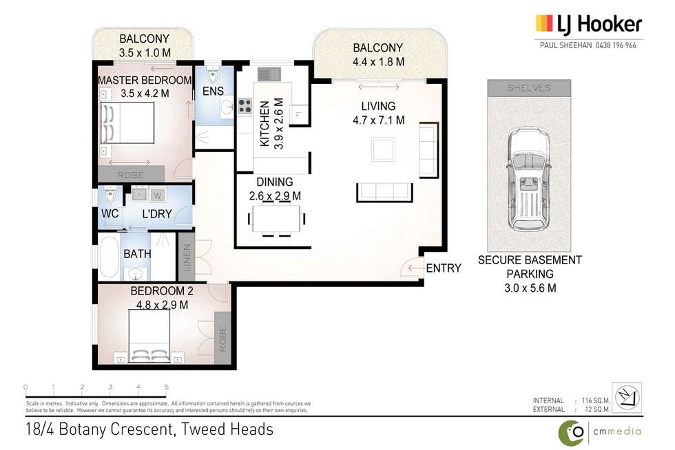 Floorplan of Homely unit listing, 18/4 Botany Crescent, Tweed Heads NSW 2485