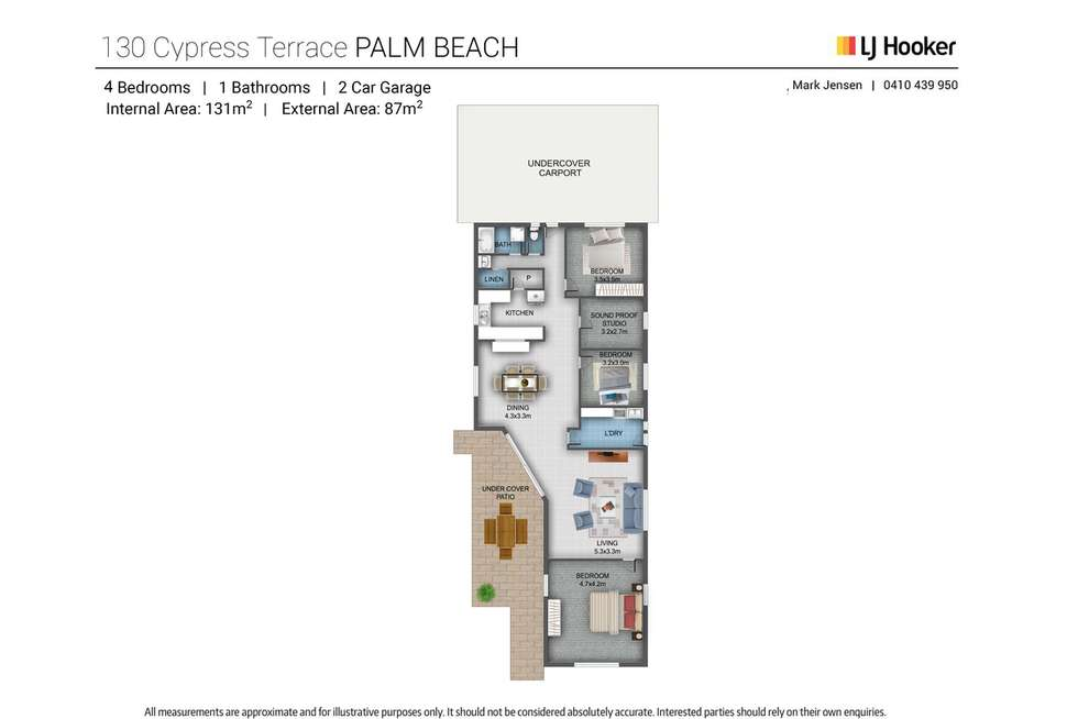 Floorplan of Homely house listing, 130 Cypress Terrace, Palm Beach QLD 4221