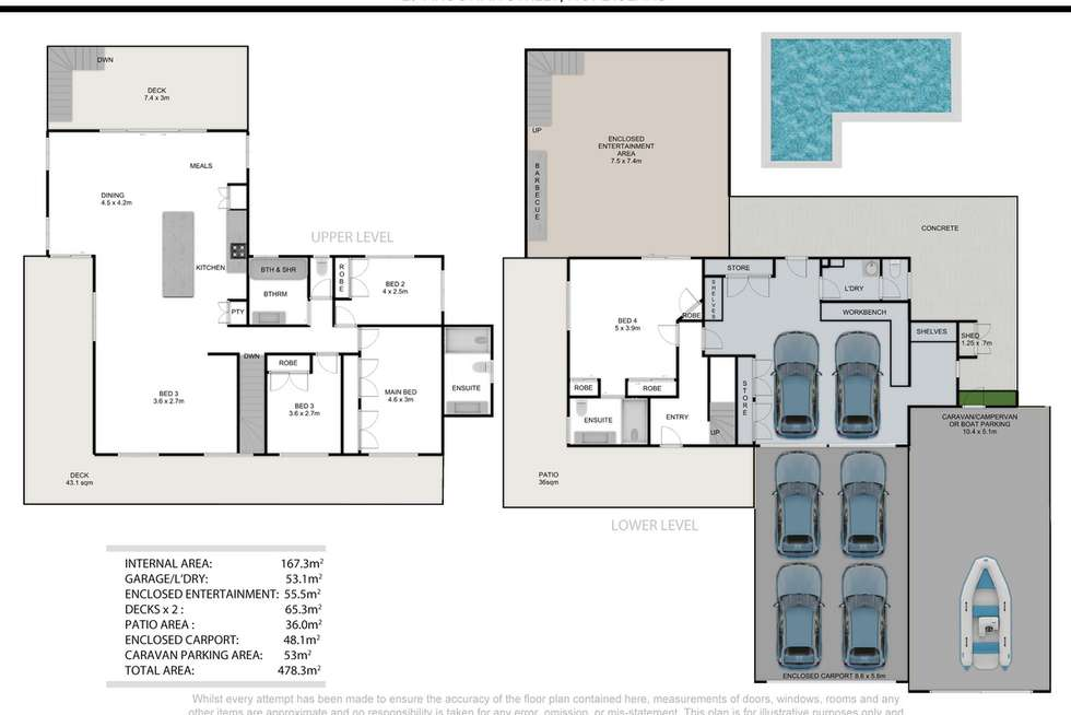 Floorplan of Homely house listing, 29 Akoonah Street, Hope Island QLD 4212
