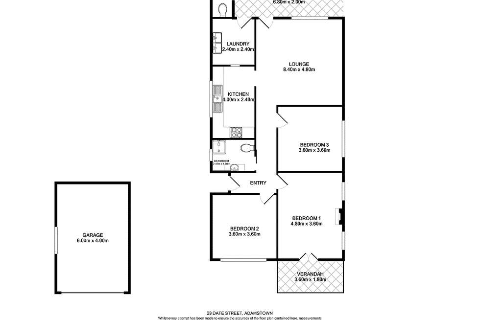 Floorplan of Homely house listing, 29 Date Street, Adamstown NSW 2289