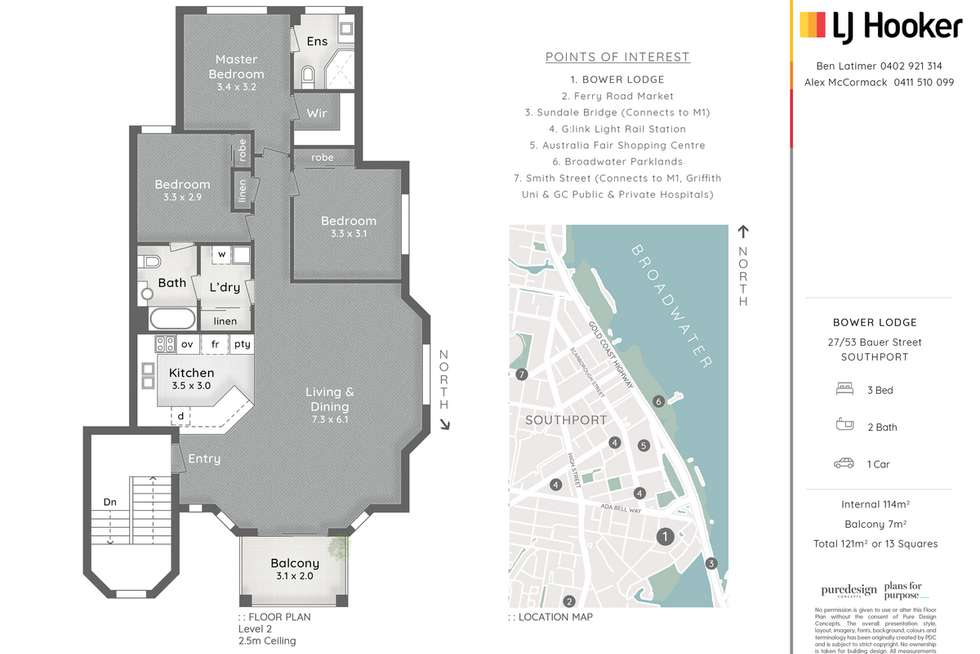 Floorplan of Homely unit listing, 27/53 Bauer Street, Southport QLD 4215