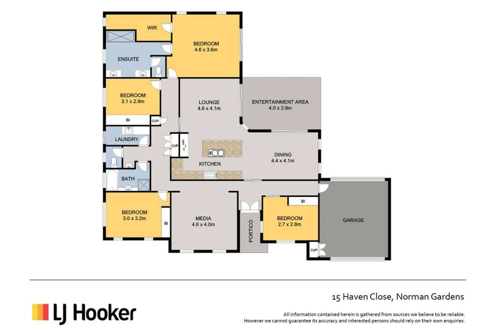 Floorplan of Homely house listing, 15 Haven Close, Norman Gardens QLD 4701