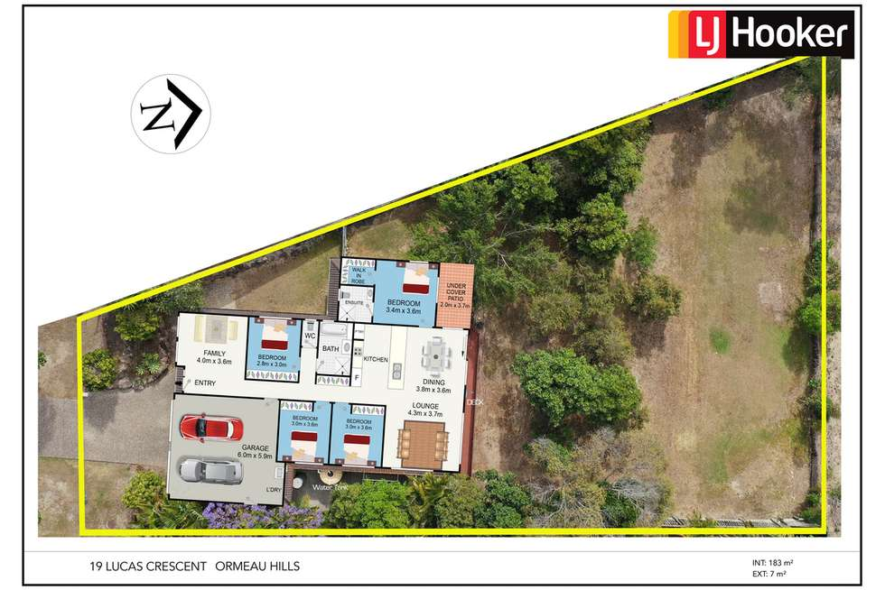 Floorplan of Homely house listing, 19 Lucas Crescent, Ormeau Hills QLD 4208